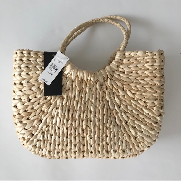 LOFT Handbags - LOFT Straw Tote Bag